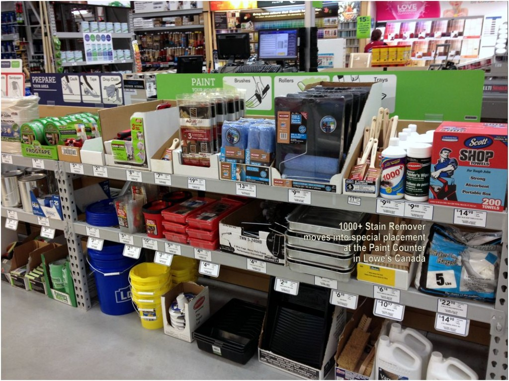 Picture - Lowes Ramping Up with New Branding - Paint Counter Display