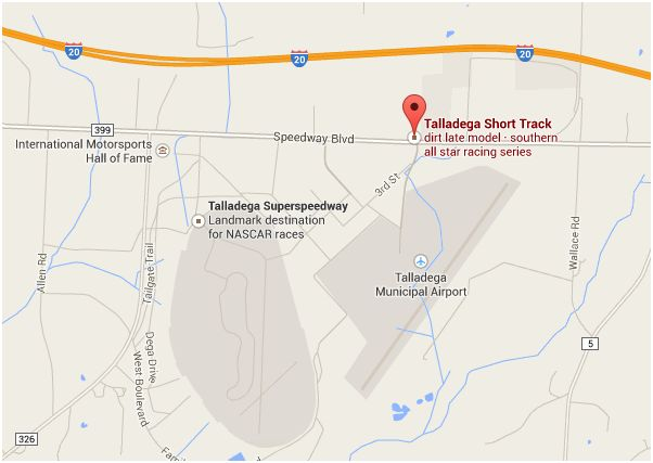 Picture - Talladega Short Track Location