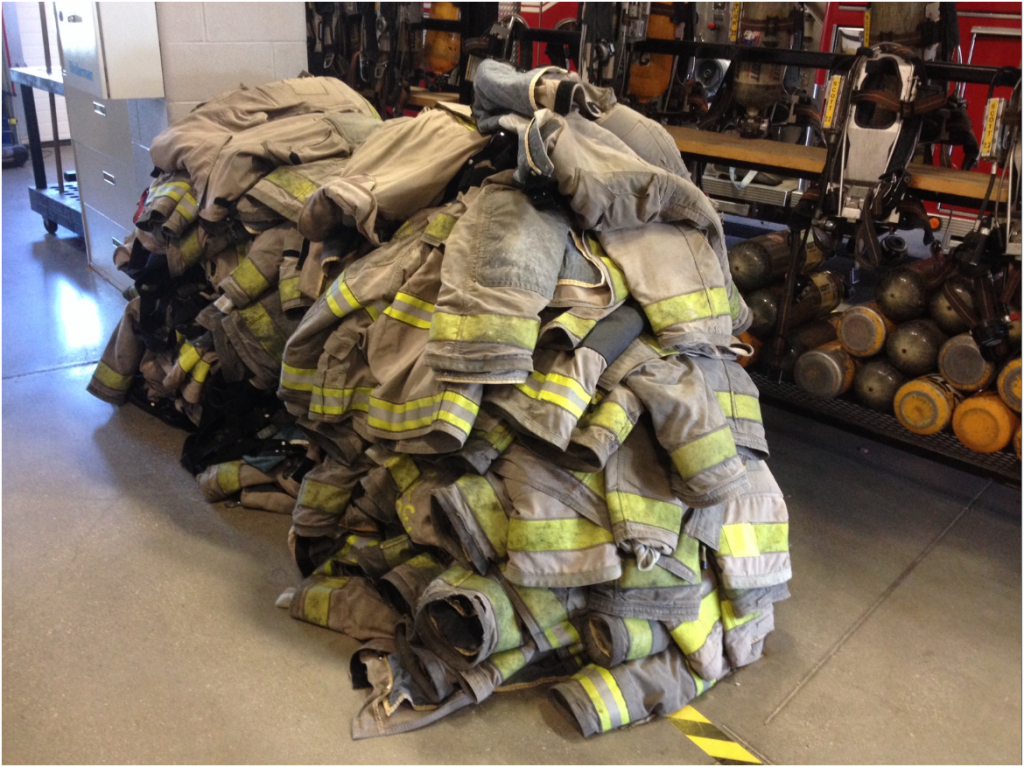 Picture - Bunker Gear Awaiting ReGUARD4 at Lambton College