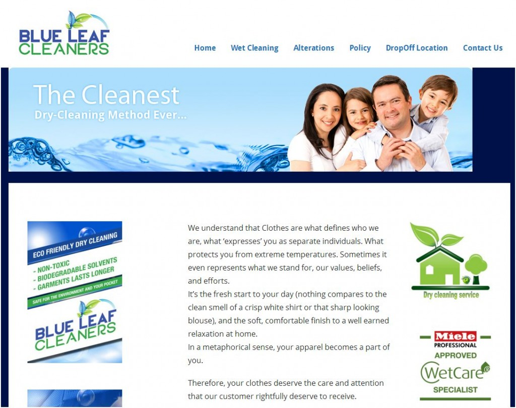 Picture - BRILLIANT Customer Blue Leaf Cleaners